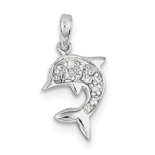 Sterling Silver Polished Dolphin Pendant EHjtw6wM