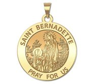 PicturesOnGold.com Saint Bernard of Menthon Round Religious Medal 14K Yellow or White Gold or Sterling Silver